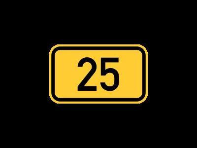 Sperrung auf der B25 für LKW  bleibt erhalten