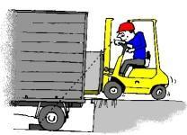 Be- und Entladen von LKWs
