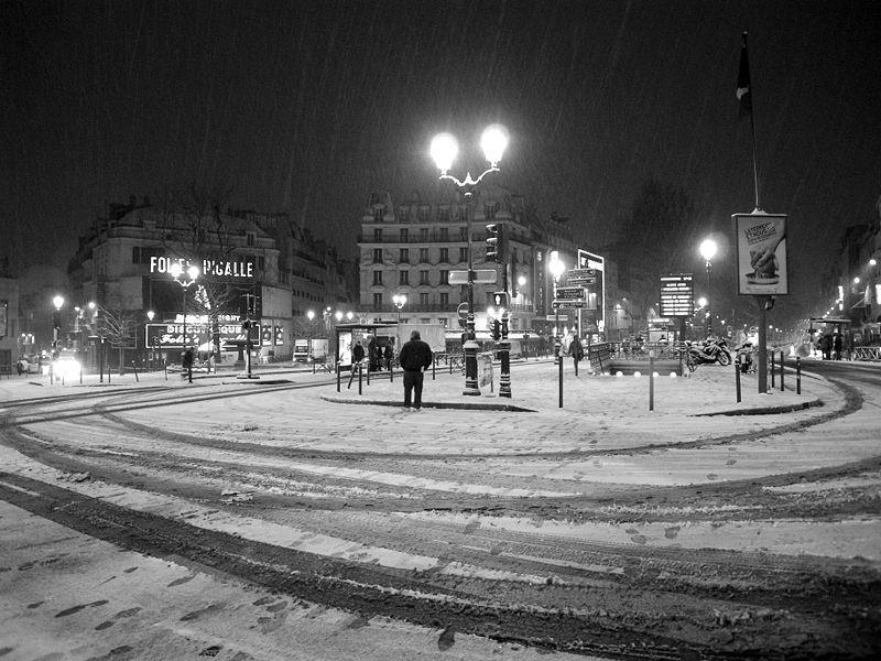 Francja pod śniegiem