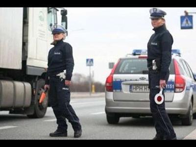 Массовые проверки грузовых автомобилей на польских дорогах.