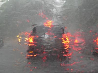 Circulație îngreunată din cauza ploilor