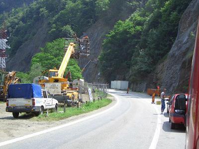 Consolidarea pasajului de la Râul Vadului, finalizată