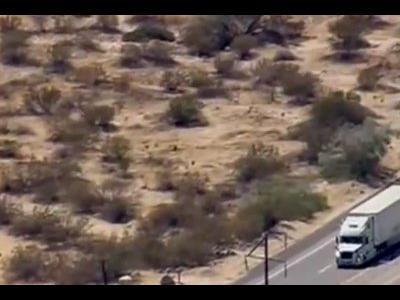 Ca în filme: Poliția a urmărit 3 ore un camion furat (VIDEO)