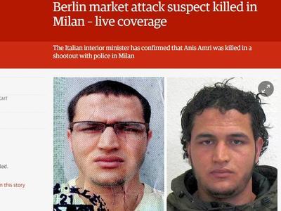 Z ostatniej chwili: Tunezyjczyk podejrzany o dokonanie zamachów w Berlinie zastrzelony w Mediolanie