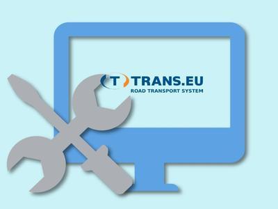 Pauză tehnică în Sistemul Trans.eu