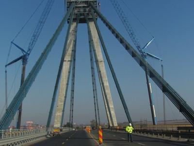Podul de la Agigea, redeschis pe 4 benzi circulației