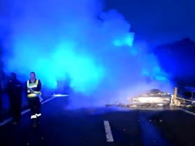 Kierowca, który zginął w Calais to 52-letni mieszkaniec Śląska. Mamy wideo z wypadku