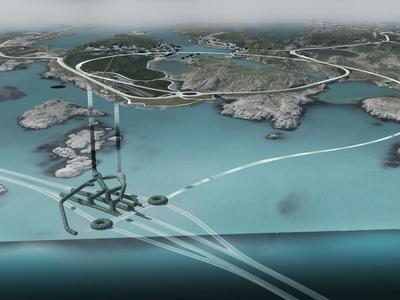Будет создан первый в мире плавучий подводный автомобильный туннель (видео)