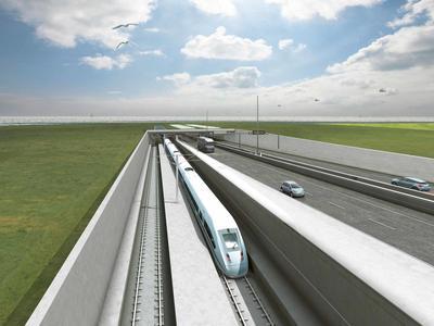 Powstanie tunel drogowo-kolejowy między Danią i Niemcami. Przeprawa będzie cztery razy szybsza niż promem