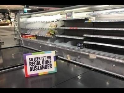 A German supermarket wanted to shock their clients with… empty shelves