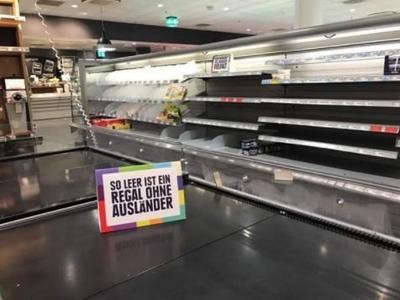 Niemiecki supermarket chciał wstrząsnąć swoimi klientami poprzez… puste półki