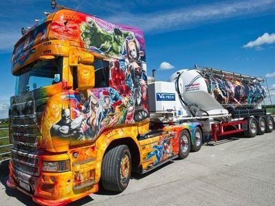 300 000 фунтов на покрытие грузовика изображениями супергероев. Оно того стоило?