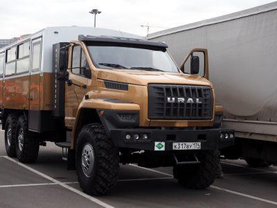 Rosyjska ciężarówka na gaz startuje w rajdzie po Europie