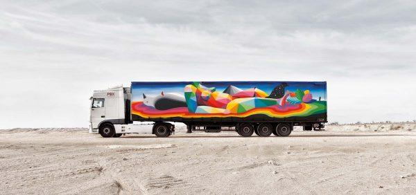 Plandeka ciężarówki płótnem dla artysty? Dlaczego nie