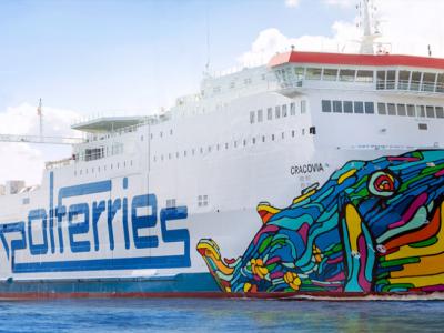 Nowy prom na Bałtyku ułatwi przewozy do Szwecji. Zabierze ponad setkę ciężarówek