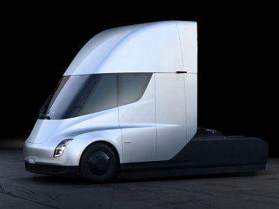 Ein Blick ins Interieur des Tesla Semi Truck