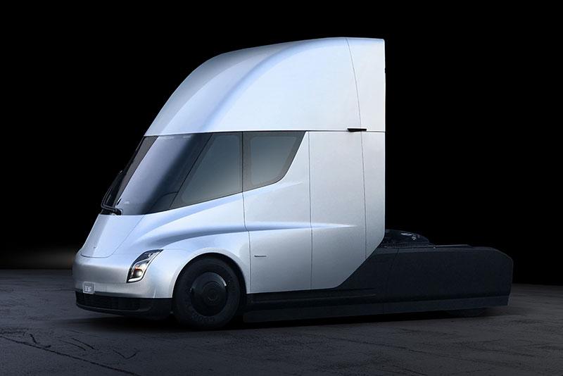 Ein Blick ins Interieur des Tesla Semi Truck - Trans.INFO