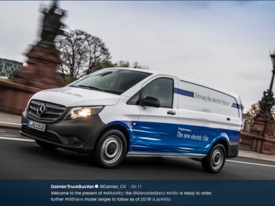 Mercedes Benz przestawia dostawczaki na elektromobilność. Pierwszy będzie eVito