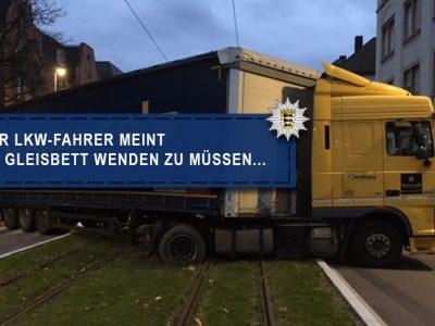 So geht das nicht! Eine Warnung an Lkw-Fahrer