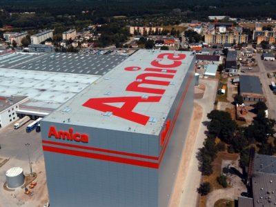 26 ezer raklap, 1alkalmazott – nézze meg az Amica cég automatikus magas raktárát