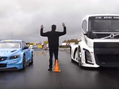 Cum arată o întrecere între cel mai rapid camion din lume și un autoturism sport?