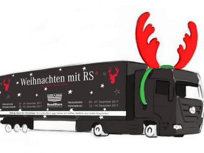 """""""Riding home for Christmas"""".  Weihnachtsstimmung auf Rasthöfen"""