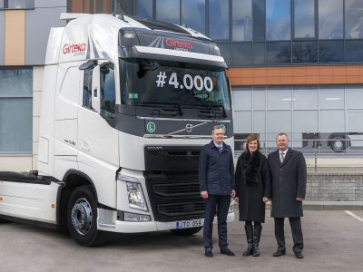 End of year with impressive fleet. The 4,000th Girteka truck started its first route