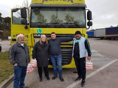 Weihnachtsaktion: Geschenke für Fahrer aus Osteuropa