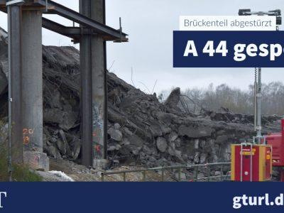 A44 bei Kassel: Vollsperre bis Mittwoch