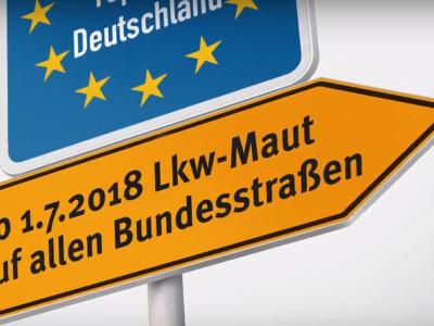 Lkw-Maut: neue Kontrollsäulen auf Bundesstraßen
