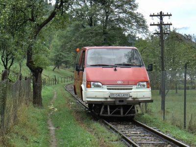 Старый Ford Transit и его «вторая жизнь» на железной дороге