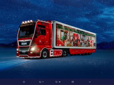 Świąteczny truck ruszył w trasę po Bawarii. Ma ważną misję do spełnienia