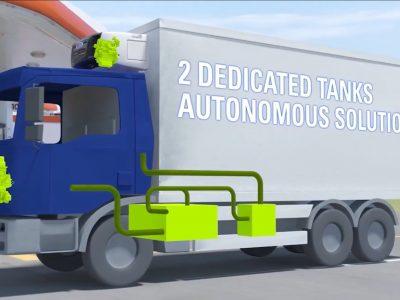 Carrier und Iveco präsentierten CNG-Kühlaggregat