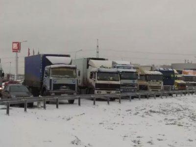 Proteste unter Russlands Fernfahrern