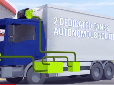 Pierwsza ciężarówka z agregatem chłodniczym na CNG