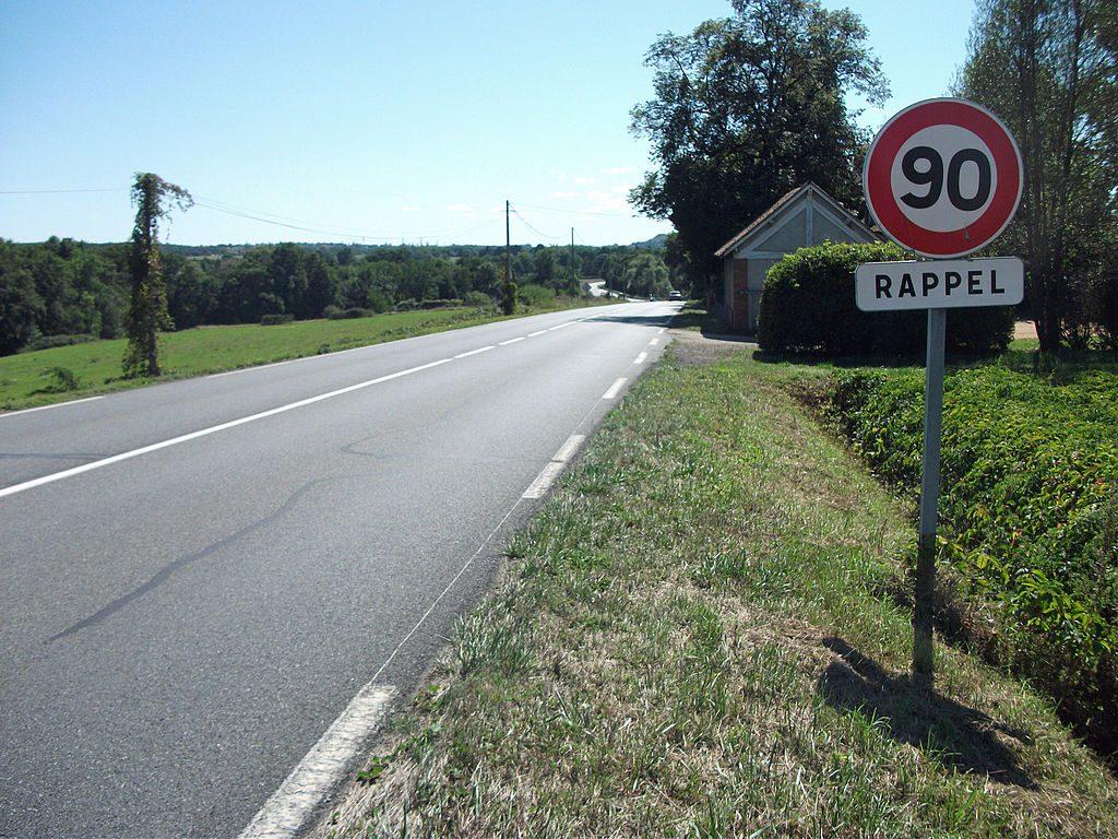 Nur 80 km/h auf den Landstraßen in Frankreich