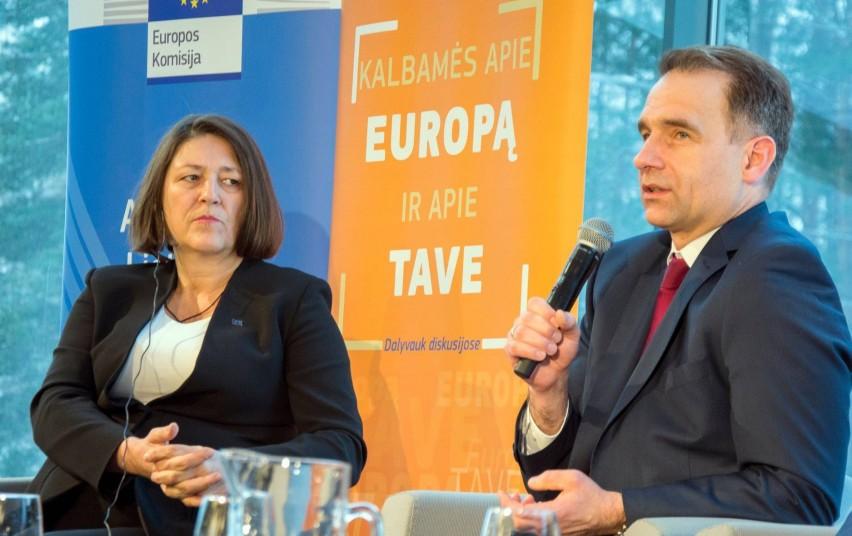 ES transporto komisarės Violetos Bulc vizito metu Vilniuje aptarti Lietuvai svarbūs transporto klausimai