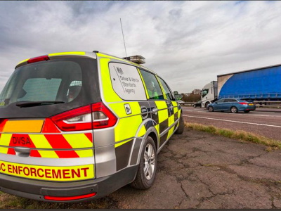 Unusual police controls in the UK. Drivers must pass the eyesight test to keep their license