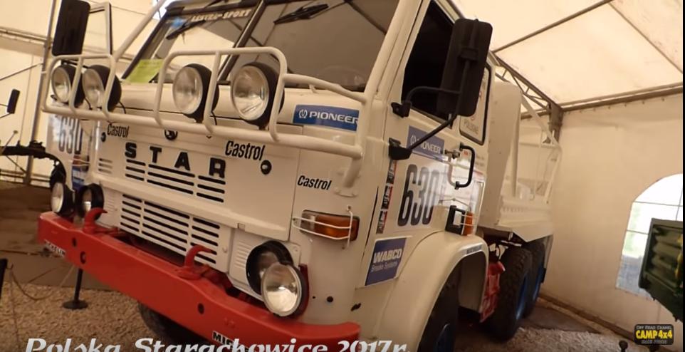 Zmodyfikowany model Stara 266. Polska ciężarówka, która wzięła udział w rajdzie Paryż-Dakar