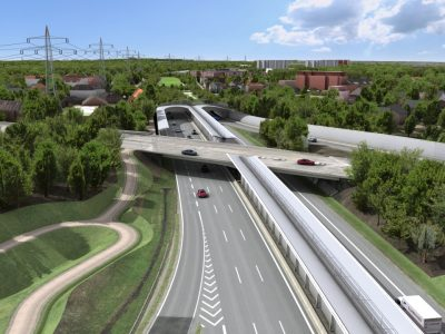 The renovation of the bridge on the German A7 junction is starting in March