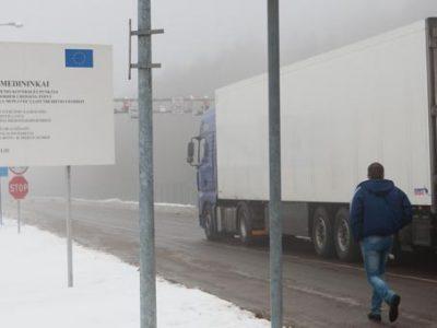 Vilkiko aptikta 14 sušalusių nelegalių migrantų, bandžiusių iš Baltarusijos patekti į Lietuvą