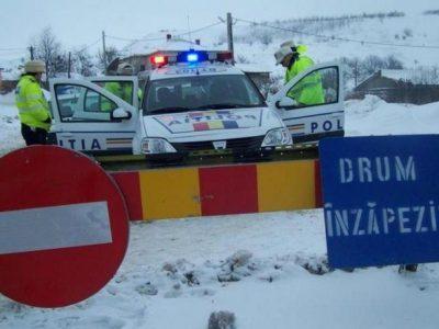 Drumuri naționale închise din cauza condițiilor meteo