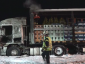 Trucker saves his colleagues from a burning truck