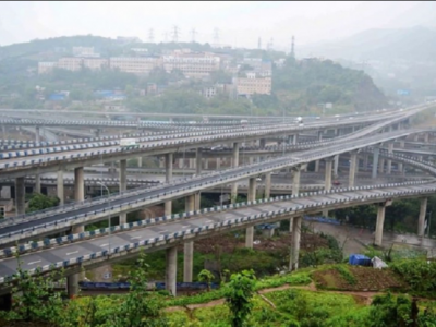 See what the most-complicated overpass in the world looks like