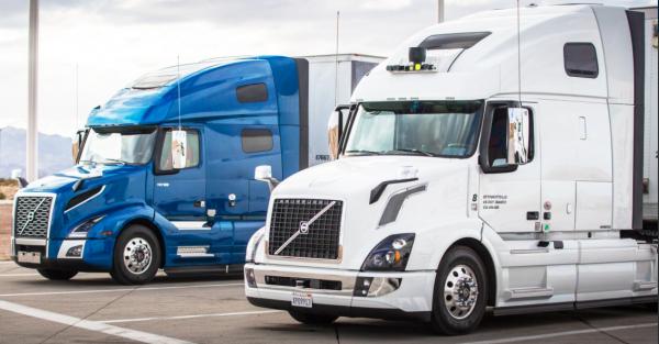Autonomous Uber trucks deliver goods in Arizona