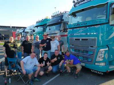 German Truckshow with a noble goal. Every year truck drivers show their generosity