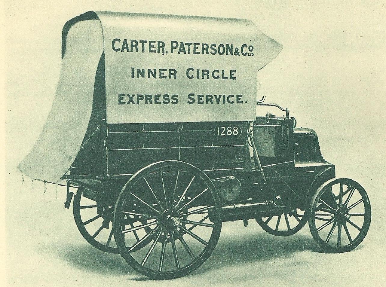 Samochód dostawczy Daimler z 1908 roku firmy Pickfords