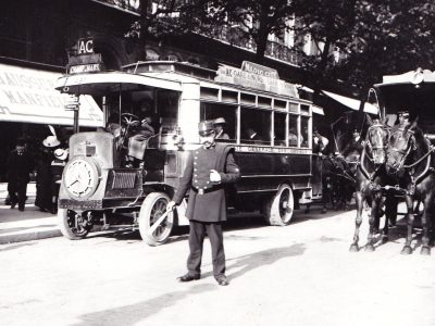 History of transport part 9. What did the first bus companies spend most of their money on?
