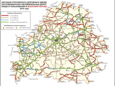 Pavasariniai sunkvežimių eismo ribojimai Baltarusijoje 2018 m.
