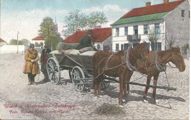 Furmanka z przełomu wieków używana na terenie Królestwa Polskiego.